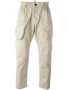 брюки карго с эластичным поясом Dsquared2