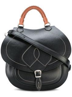 полукруглая сумка с простроченным узором Maison Margiela
