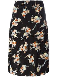 юбка-карандаш с цветочным принтом Marni