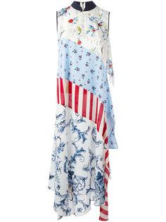 длинное платье лоскутного кроя Antonio Marras