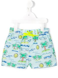 плавательные шорты с принтом Taylor beach Stella Mccartney Kids
