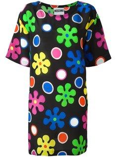 платье с цветочным узором Moschino
