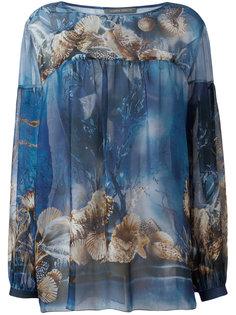 блузка с принтом морских раковин Alberta Ferretti