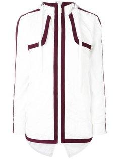 куртка с капюшоном и разрезом на спине No Ka Oi