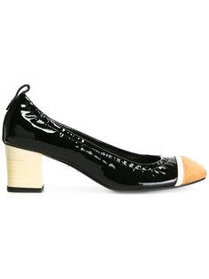 туфли дизайна колор-блок Lanvin
