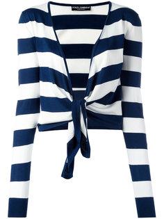 полосатый кардиган с завязками Dolce & Gabbana