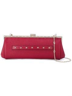 клатч с заклепками Red Valentino