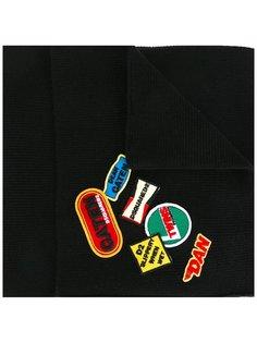 шарф с нашивками Dsquared2