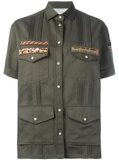 рубашка с вышивкой в стиле милитари Valentino