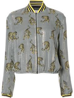куртка-бомбер  с полосатым принтом Giamba