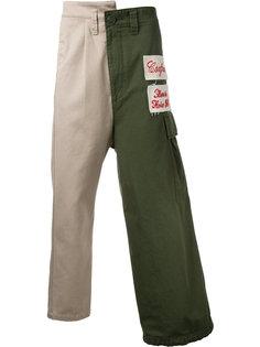 комбинированные брюки-карго Maison Mihara Yasuhiro