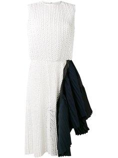 асимметричное кружевное платье Sacai