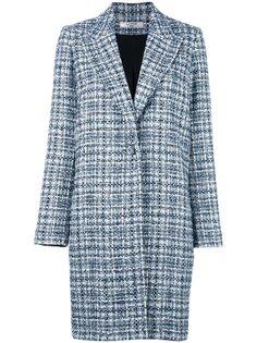 твидовое однобортное пальто Lanvin