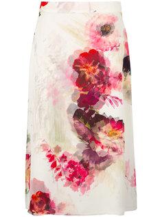 юбка А-образного силуэта из шифона Lanvin