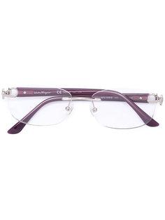 очки в овальной оправе Salvatore Ferragamo Eyewear