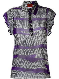 блузка с зигзагообразным узором Missoni