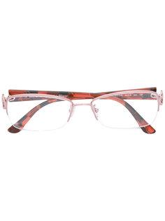очки в квадратной оправе Salvatore Ferragamo Eyewear