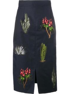 юбка-карандаш с вышивкой кактуса Stella McCartney