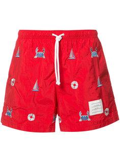 шорты для плавания с принтом Thom Browne
