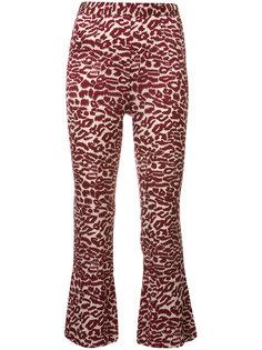 укороченные брюки с принтом Piamita