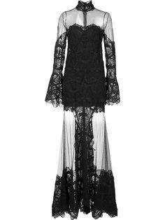 расклешенное прозрачное платье Jonathan Simkhai