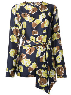 блузка с цветочным узором Martin Grant