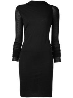 приталенное платье со складками Rick Owens Lilies