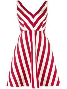 платье в полоску Red Valentino