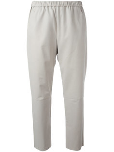 кожаные укороченные брюки Drome