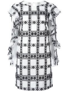 платье с рюшами на рукавах Giamba
