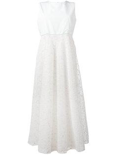 декорированное расклешенное платье Giamba