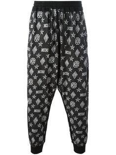 брюки-шаровары с узором-монограммой KTZ