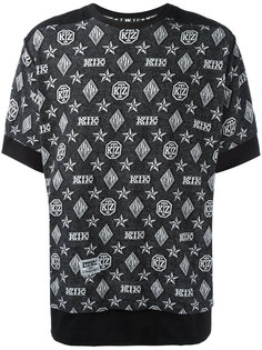 футболка с узором-монограммой KTZ