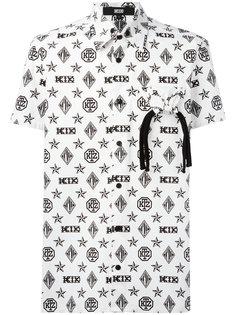 рубашка с узором-монограммой и короткими рукавами KTZ