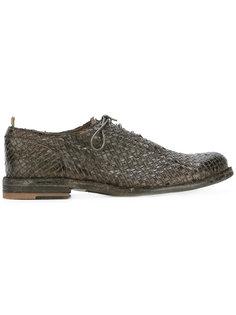 плетеные ботинки на шнуровке Officine Creative