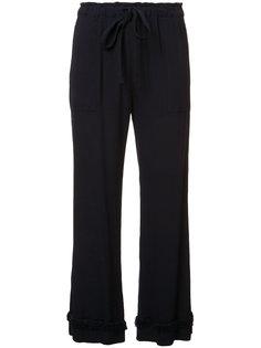 укороченные брюки с бахромой Raquel Allegra