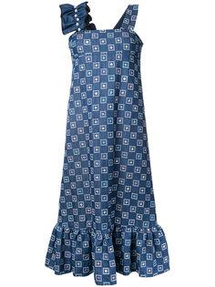 джинсовое платье с вышивкой Huishan Zhang