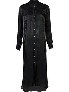длинное платье-рубашка Mm6 Maison Margiela