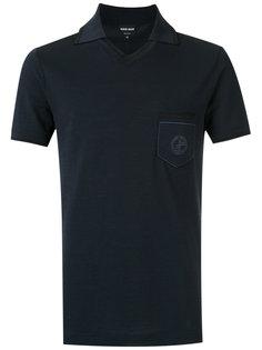 футболка-поло с вышивкой логотипа Giorgio Armani