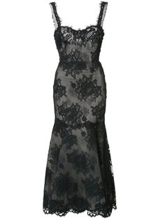 кружевное платье макси Monique Lhuillier
