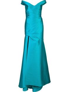 вечернее платье с открытыми плечами Monique Lhuillier