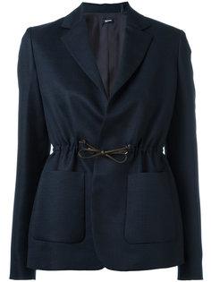 пиджак со сборкой Jil Sander Navy