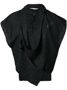 пиджак без рукавов с запахом  Barbara I Gongini