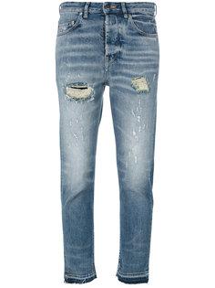 укороченные джинсы с рваными деталями Golden Goose Deluxe Brand
