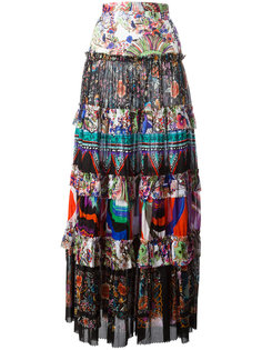 юбка макси со сборками Roberto Cavalli