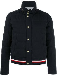 куртка-бомбер с нашивками Moncler Gamme Bleu