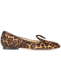 лоферы с леопардовым принтом Andrea  Sarah Flint