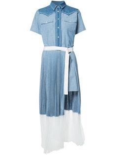 платье-рубашка с короткими рукавами Sacai