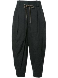 брюки в полоску на шнурке Devoa