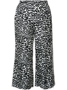 укороченные брюки с леопардовым узором Piamita